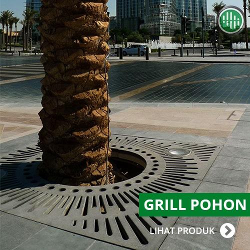 grill pohon - pengaman akar tanaman