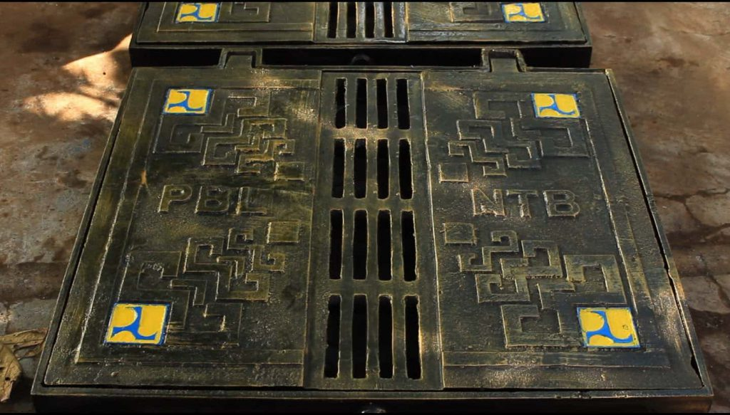 proyek grill tangkapan air manhole ntb