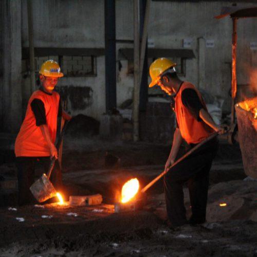 proses cor logam baja